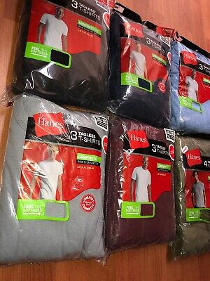 Hanes Mens Tag Free Pocket T shirts 6 Pack Size S-3XL Assorted Colors Cant Pick! ()