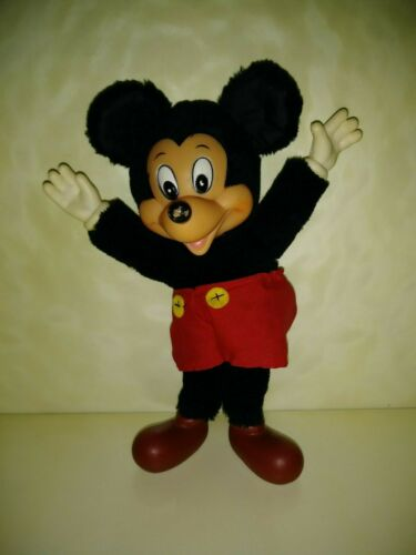 Vintage, MICKEY MOUSE, 8 Inches Tall, Soft Body, Hard Head, Hands and Feet