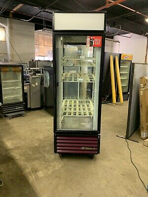 True G4sm-23rl-si Glass Door Pass Through Refrigerator Merchandiser Used