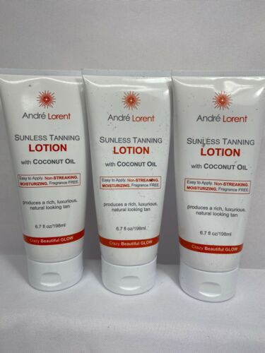Andre Lorent Sunless Tanning Lotion with Coconut Oil, Fragr