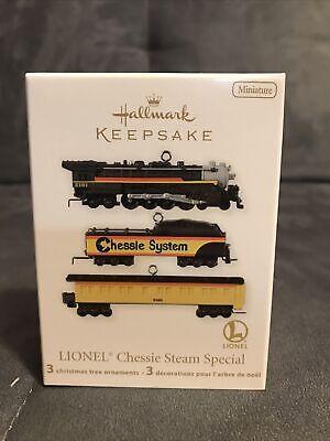 Hallmark 2012 Keepsake Miniature Ornament Set Lionel Train Chessie Steam Special