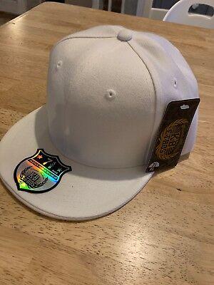 NEW KB Ethos White Flat Cap 7 5/8 XL