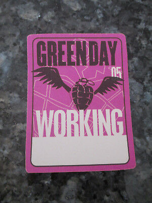GREEN DAY - 2005 WORLD TOUR -  WORKING BACKSTAGE PASS