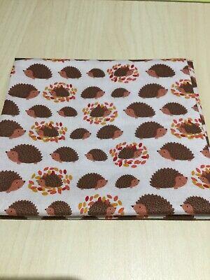 Lewis & Irene, Under The Oak Tree, 100% Cotton Fabric, Fat Quarter, Hedgehogs