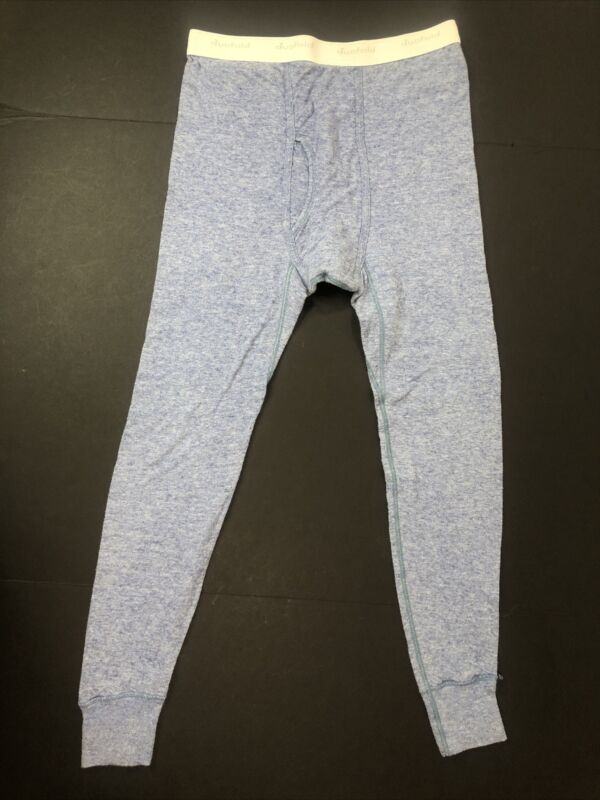 VTG Med Duofold Blue Wool Blend 2 Layer Thermal Pants Long Johns Underwear USA