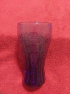 "COCA COLA GLASS - BLUE 6"" TALL"