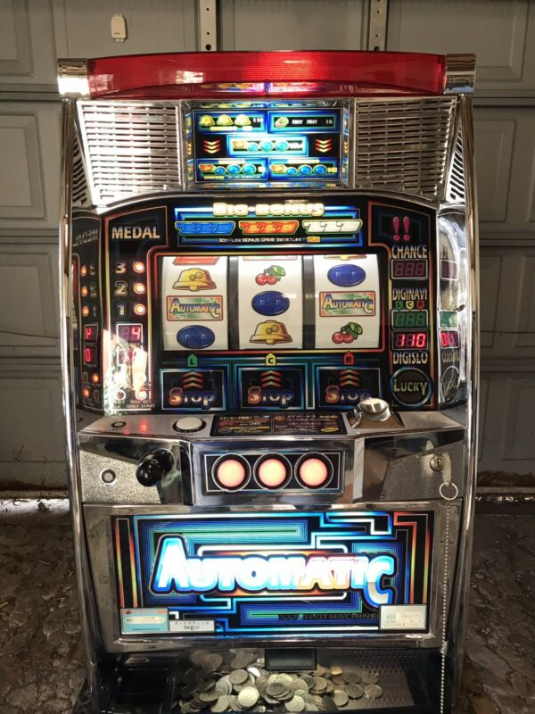 Pachislo (Automatic)Skill Stop Slot Machine by Bellco Used w/ Tokens - Manual