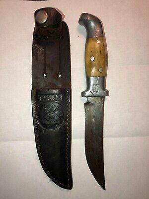 RARE vintage 1943-1946 Ruana Model 11A 3 PIN HANDLE hunting knife with sheath