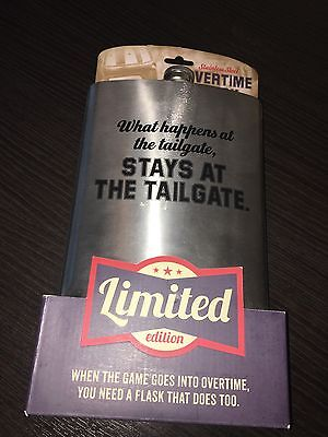 NEW Stainless Steel Oversize Overtime Flask 64oz Limited Edition Fun Gift Unique