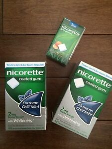 Nicorette Gum New Unopened