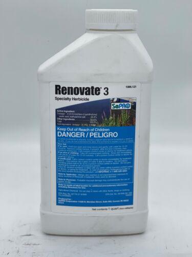 Renovate 3 SePRO Aquatic Herbicide - 1 quart (pond & shoreline weed control)
