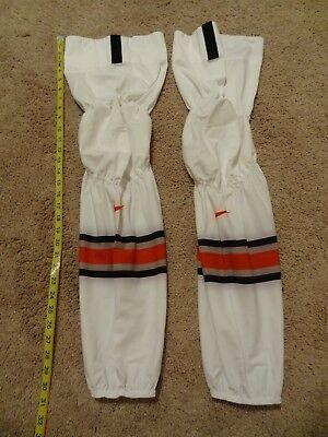 New Nike Swift Ice Hockey Socks Long Size White Pro Stock Shin Pads Covers Bauer