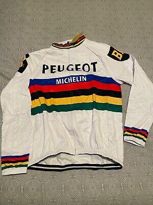 Maillot Cycliste Peugeot Vintage Réplique XL Manche longue Michelin Coupe monde