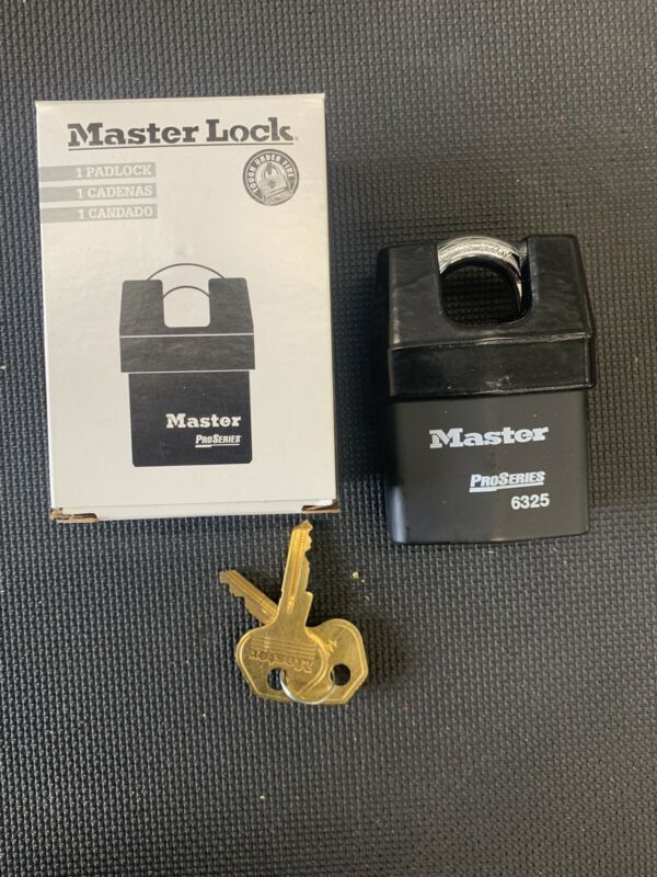 "MASTER LOCK 6325 Keyed Padlock,Different,2-3/8""W"