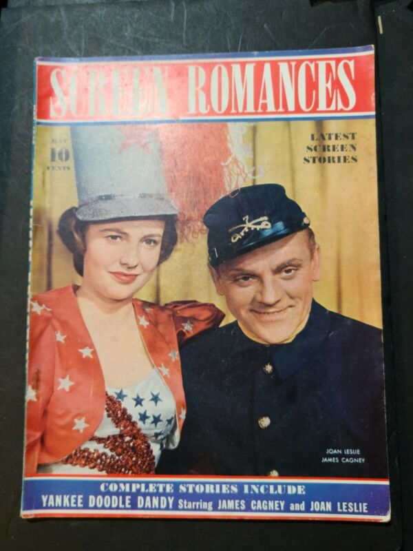 SCREEN ROMANCES MAGAZINE YANKEE DOODLE DANDY JAMES CAGNEY 1942