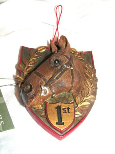 Seasons of Cannon Falls 1st Place Horse Head  Trophy Ornament NWT