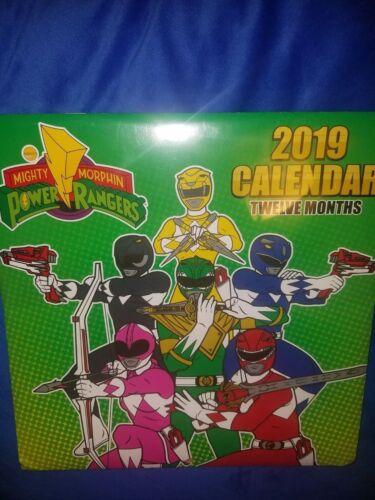 Power Rangers Vintage Original 2019 Calendar Retro ! GO GO power ranger SHIPFAST