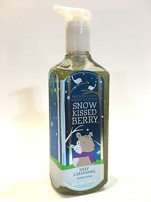 LOT 1 SNOW KISSED BERRY BATH & BODY WORKS DEEP CLEANSING HAND SOAP WASH 8 FL -