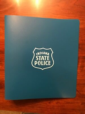 Indiana State Police 3 Ring Binders 1 12 Blue Brand New Box Of 20.