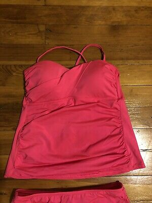 Apt 9 Tankini Top, Bathing Suit Size Large -