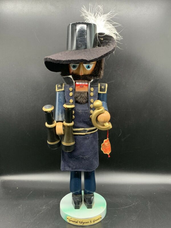 "Steinbach National Heroes Nutcracker - Civil War General Ulysses S Grant - 19"""