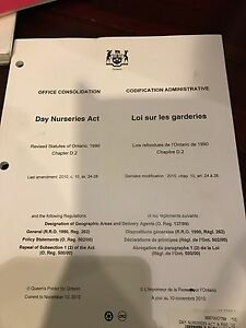 Day Nurseries Act