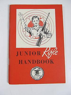 Vintage 1960 NRA Junior Rifle Handbook Hunting Gun Safety MINT