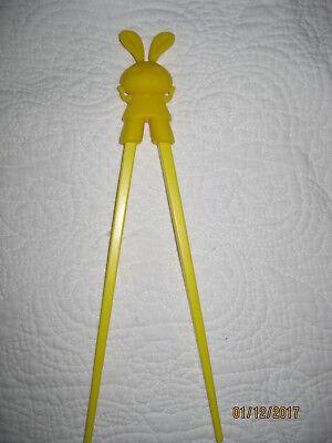 Essstäbchen Hase gelb für Anfänger Kinder Senioren Chopsticks Lernstäbchen