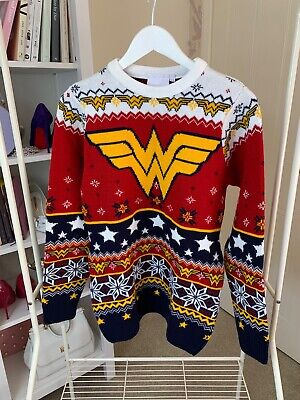 WONDER WOMAN CHRISTMAS JUMPER, S, NEW WITHOUT TAGS