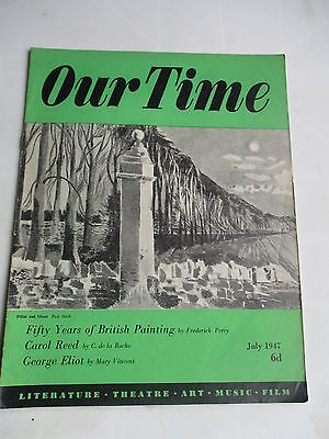 1947 OUR TIME MAGAZINE PAUL NASH CAROL REED  GEORGE ELIOT
