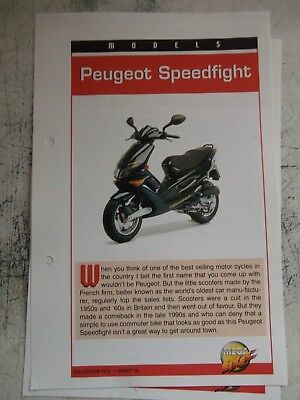 PEUGEOT SPEEDFIGHT collector file fact sheet.