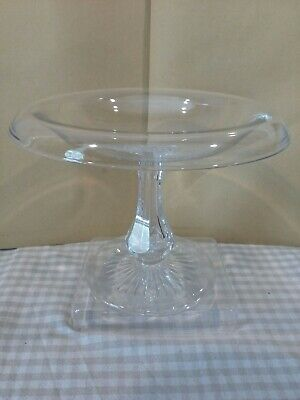 Vintage Glass Tazza Fold Over Rim Retro Kitchenalia