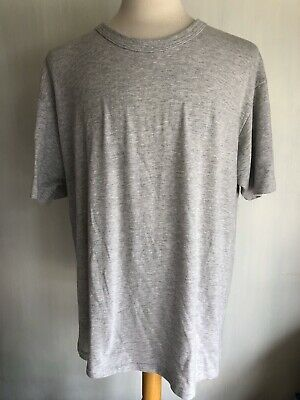 ALTERNATIVE EARTH Grey Tri-Blend Men's Drop Neck Eco-Jersey Crew T-Shirt Sz 3XL Fashion Tri Blend T-shirt