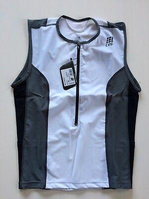 CEP Herren Triathlon Tri Top - Farbe Weiß - Größe M - UVP 69,90