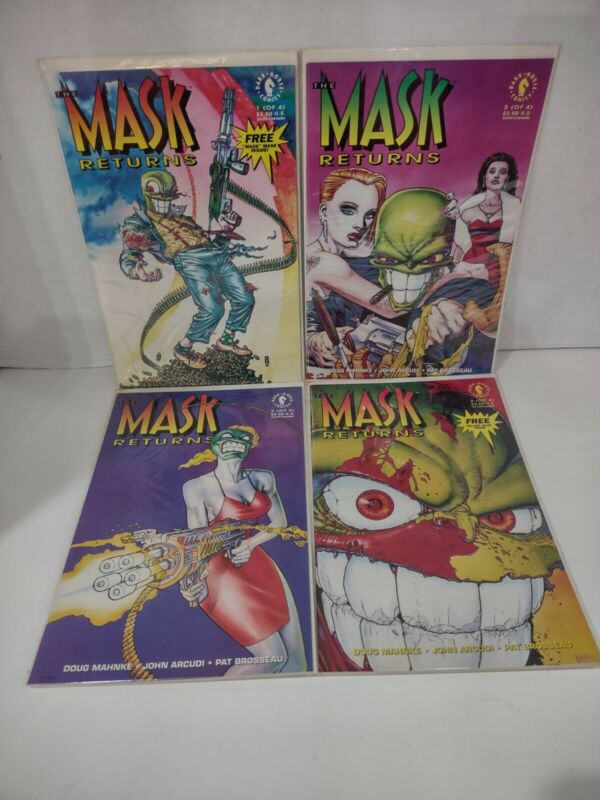 The Mask Returns 1992 1-4 Jim Carrey Dark Horse Comics SMOKIN