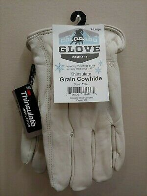 Colorado Glove Company Insulated Winter Lined Cowhide Work Gloves Leather