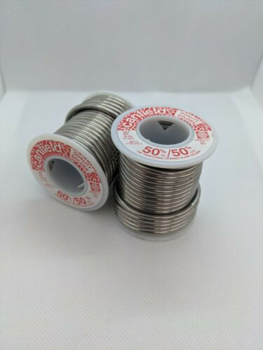2 Canfield 50/50 Solder 1lb Spools - Stained Glass