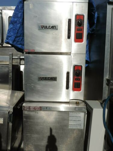 STEAMER VULCAN DOUBLE STACK (GAS WITH HEAT CHAMBER BOILER)