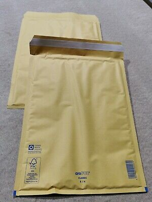 50 x Bubble Lined Padded Envelopes Mailers Bags Gold 270mm x 360mm Size 8 H/5