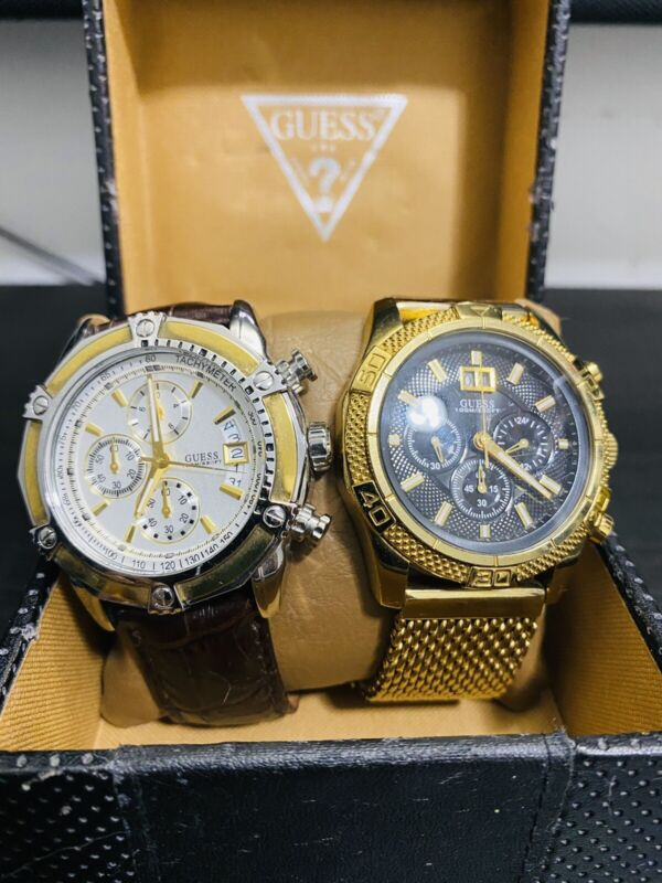 2 Genuine Guess Watches 100% Authentic