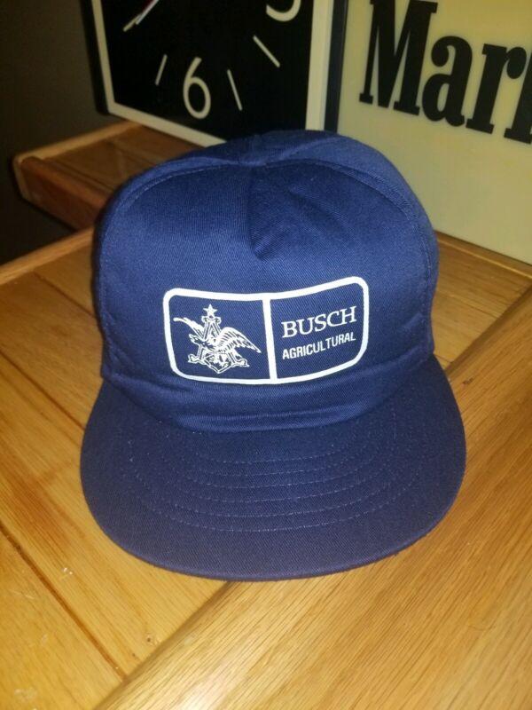 Vintage 80s Busch Agriculture Beer Hat Snapback Foam OSFA