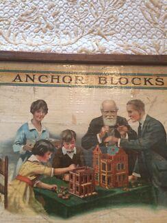 Antique building block brick Toy game 1911