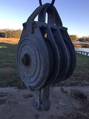 3 Sheave Marine Galvanized Block Pulley Crane Block Rigging Pulley Snatch Block