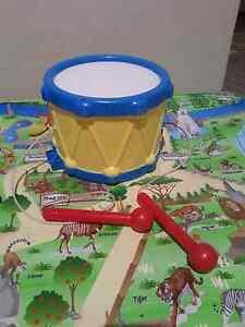 Plastic drum with sticks toy Maddington Gosnells Area Preview