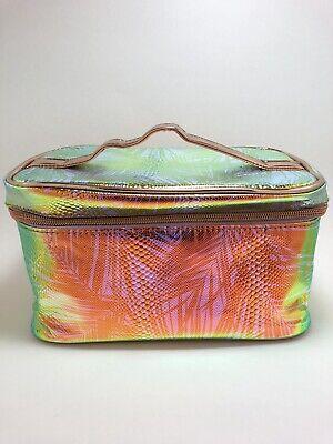 Print Train Case - ULTA Holographic Metallic Palm Print Cosmetics Makeup Bag Rainbow Train Case