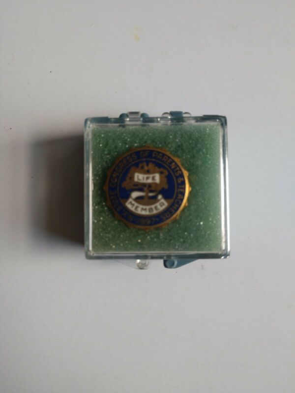 Vintage New York State Congress of Parents and Teachers Life Member Lapel Pin