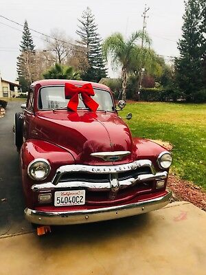 1954 Chevrolet Other Pickups -- 1954 Chevrolet 3100 Pickup Truck  102K Original Miles Lipstick Red 235