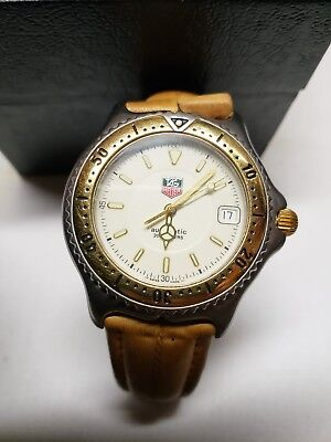 Tag heuer mens automatic watch 18kt and stainless high end authentic