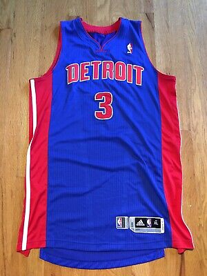 Authentic adidas Player Issued Rodney Stuckey Detroit Pistons NBA Jersey XL +2