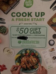X2 Hello fresh gift cards